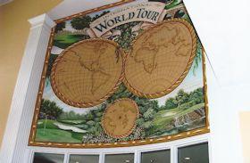 Mural in World Tour Golf Course Pro Shop, Myrtle Beach, SC