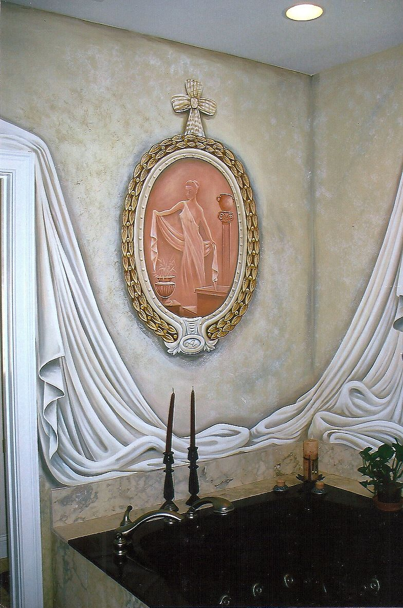 Tommy simpson the artist galleries page call 843 997 7307 painted wall mural in bathroom of a residence amipublicfo Image collections