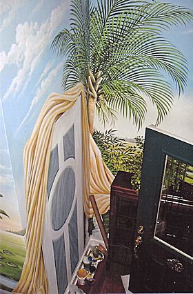 Wall Mural in Foyer of a Residence