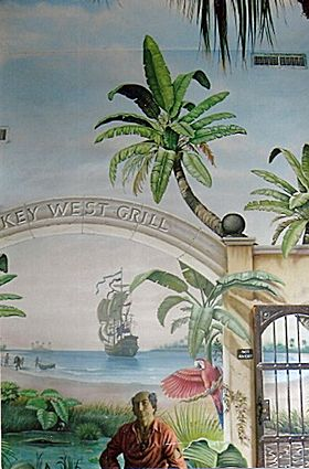 Wall Mural at Key West Grill Restaurant, Myrtle Beach, SC