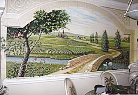 Mural of French Countryside in a Residence, Myrtle Beach, SC