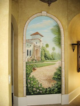 Mural in Grande Dunes Residence, Myrtle Beach, South Carolina