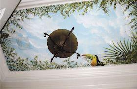 Mural Ceiling in Residential Bathroom
