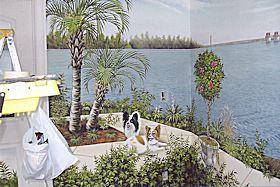 Mural in Sun Room of Lake Murray Dam, Chapin, SC