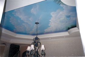 Painted Ceiling (Clouds) in Dining Area of Residence, Myrtle Beach, SC