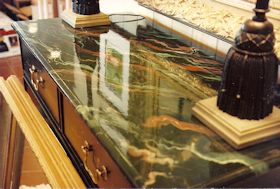 Faux Marble Table Top